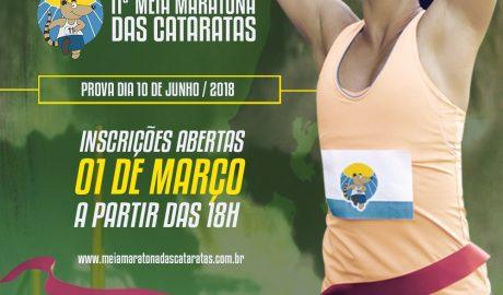 AMeia Maratona das Cataratas, uma das provas mais belas do Brasil e do mundo, será realizada no dia 10 de junho de 2018, com um trecho especial dentro do Parque Nacional do Iguaçu, Patrimônio Natural da Humanidade, que abriga as Cataratas do Iguaçu, uma das Maravilhas Mundiais da Natureza.