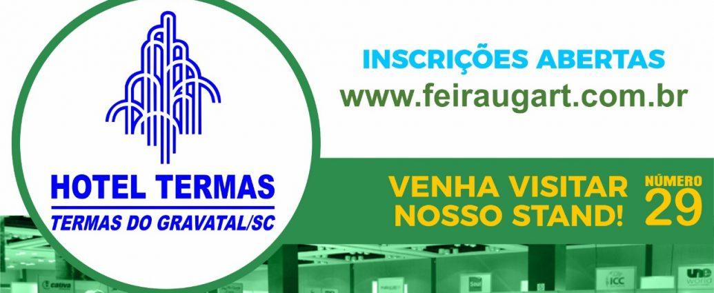 REDE TERMAS GRAVATAL - SUCESSO NA 33ª FEIRA UGART/BRAZTOA - A Rede Termas de Gravatal (Hotel Termase HotelTermas do Lago) comemoram o sucesso de sua estande, um dos mais visitados na 33ª Feira UGART/BRAZTOA, que terminou neste último sábado, em Porto Alegre - RS.