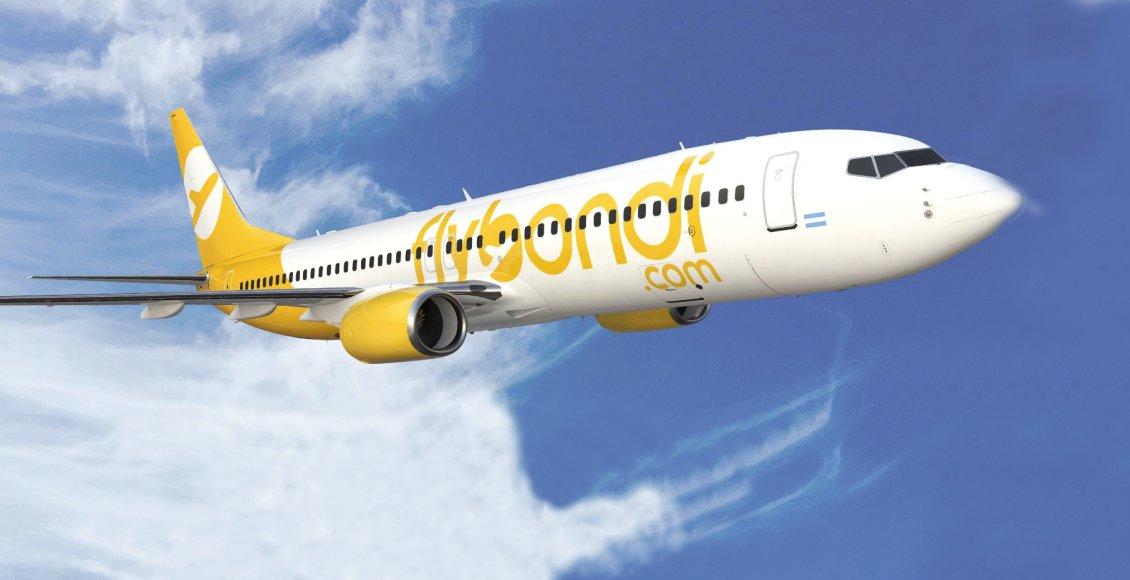 Flybondi anunciou sua quarta rota no mercado brasileiro. Dessa vez, a low-cost argentina vai operar o trecho Buenos Aires-Porto Alegre, com início marcado para 3 de março de 2020 - Divulgação
