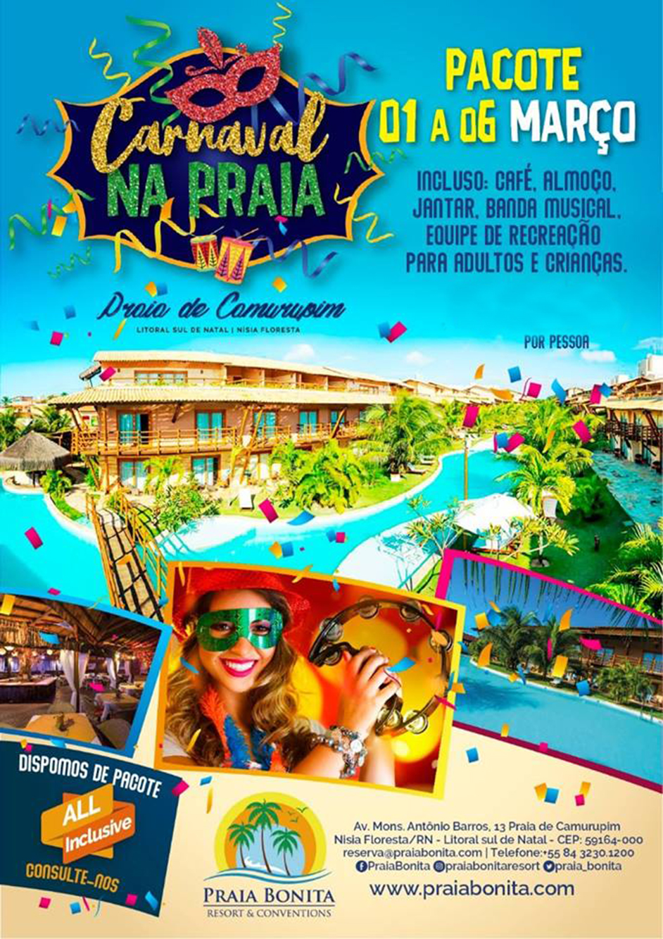 Praia Bonita Resort - Carnaval - turismoonline.net.br