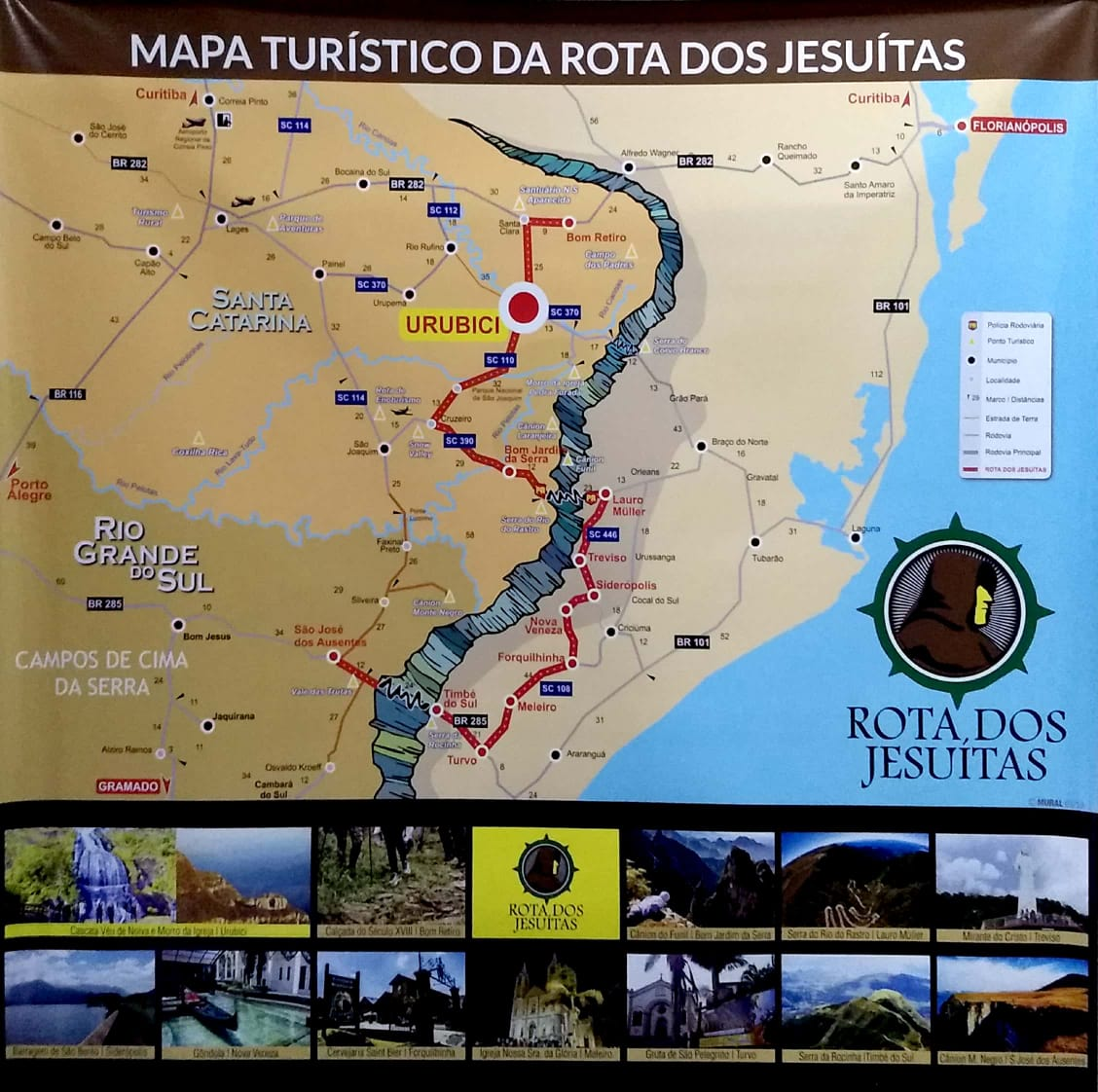 Mapa da Rota dos Jesuítas