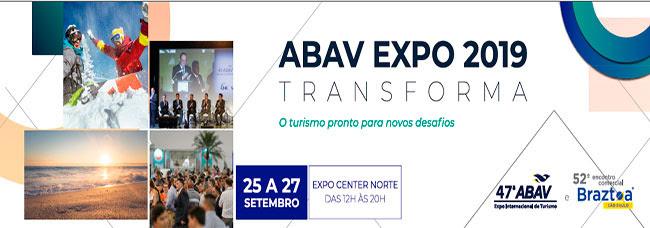 A 47ª ABAV Expo e 52º Encontro Comercial Braztoa, principal feira do setor de negócios de viagens e turismo
