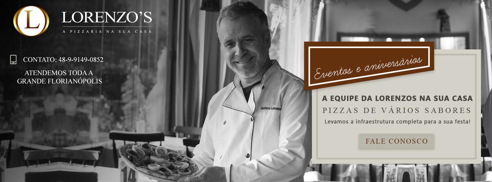 Pizzaria Lorenzo´s, a melhor e mais premiada da Grande Florianópolis.
