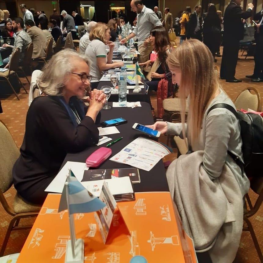 Santur marcando presença no Meeting Brasil 2019 para mais uma ação de intercionalização do turismo catarinense. O evento acontece em cinco países: Uruguai, Argentina, Paraguai, Colômbia e Peru.