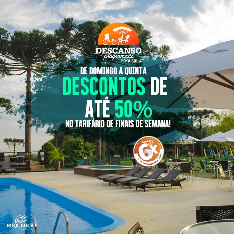 Fazenda Boqueirão com 50% de Desconto até o mês de outubro