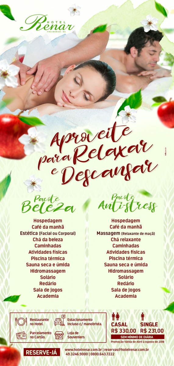 Hotel Renar - Pacote completo anti stress