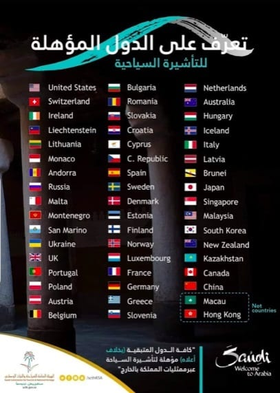 Brasil não integra lista de países aptos para o turismo na Arábia Saudita