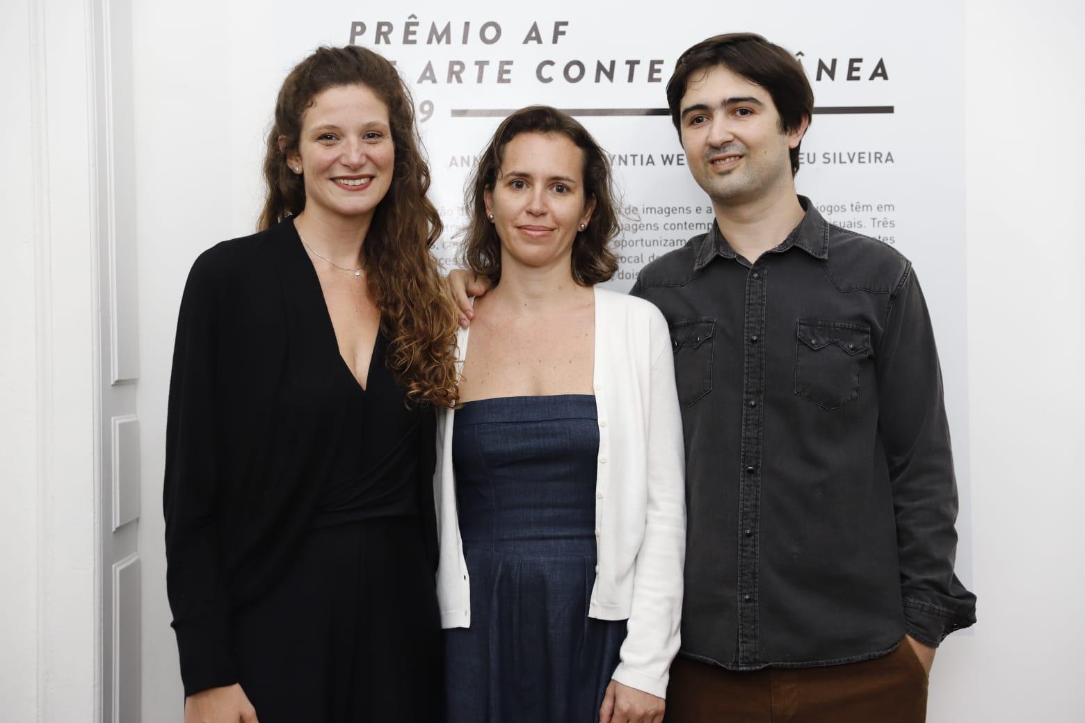 Ana de Moraes, Cyntia Werner e Romeu Silveira - Finalistas do Prêmio AF de Arte 2019 - Foto Eduardo Duks