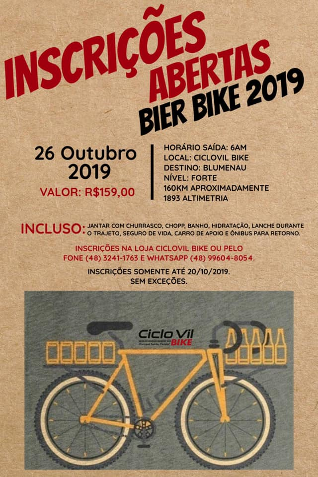 Ciclo Vil Bike presente nas festas de outubro. Inscreva-se