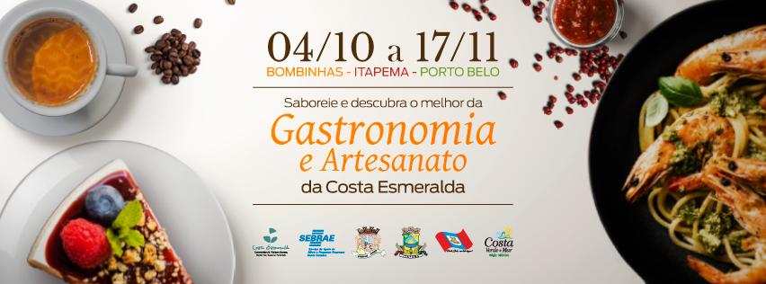 Costa Esmeralda Convention e Visitors Bureau em parceria com o SEBRAE Santa Catarina e as prefeituras de Bombinhas, Itapema e Porto Belo realizará a Temporada Gastronômica da Costa Esmeralda.