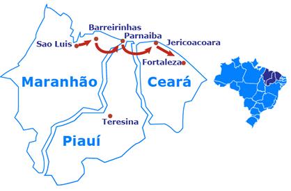 A Rota das Emoções, que engloba 14 cidades do Maranhão, Piauí e Ceará (que passará a receber o Brazil Travel Market), terá um plano de ação para seu desenvolvimento turístico.