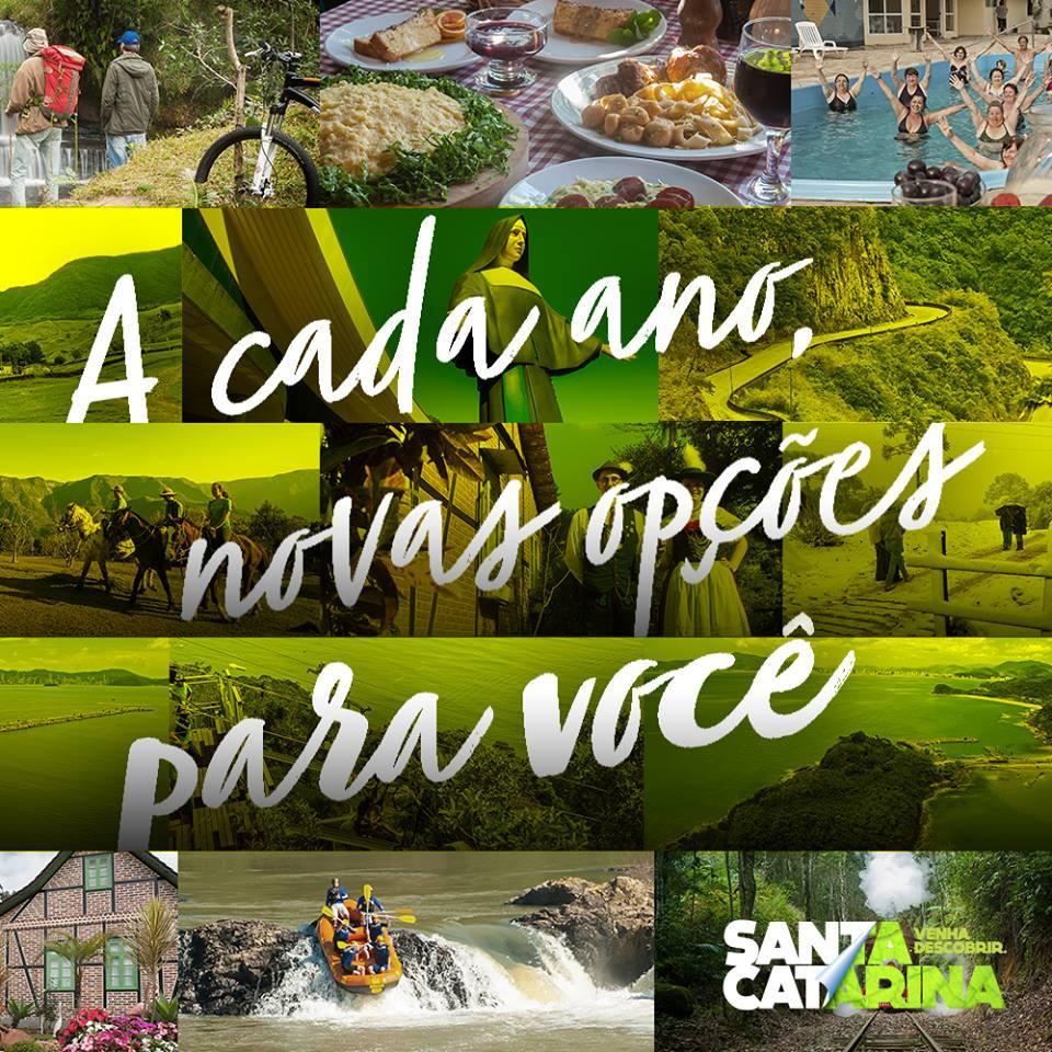 Mapa do Turismo de Santa Catarina (SC) acaba de ser atualizado pela Agência de Desenvolvimento do Turismo de SC (Santur)