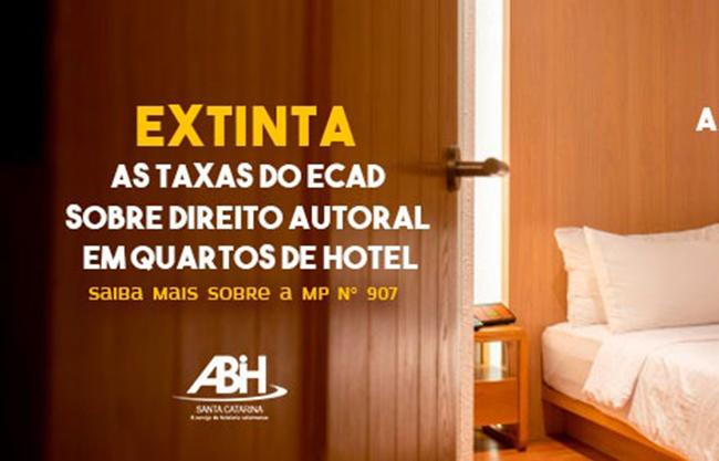 Extinta a taxa do Ecad nos quartos da hotelaria - Divulgação