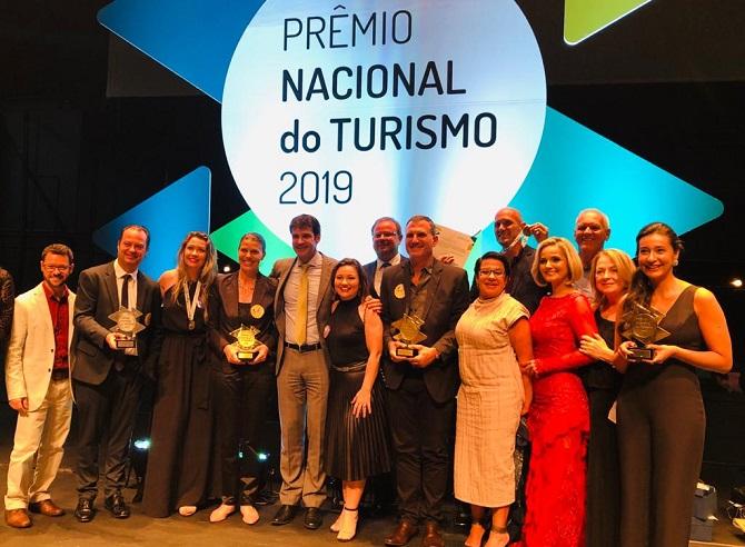 Prêmio Nacional de Turismo reconhece iniciativas e profissionais de SC, em Belo Horizonte