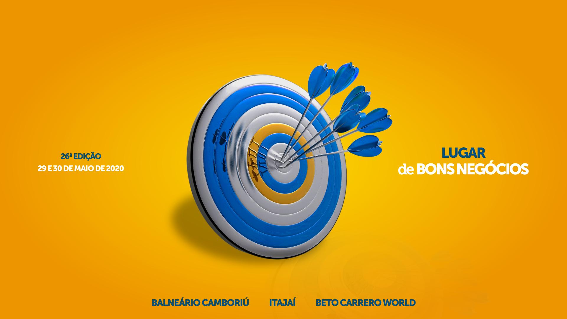A 26ª BNT Mercosul ocorre nos dias 29 e 30 de maio de 2020 em Itajaí, Balneário Camboriú e Beto Carrero World.