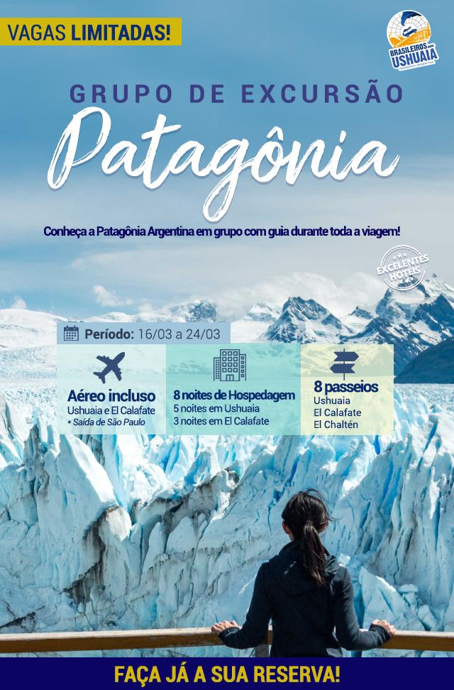Brasileiros em Ushuaia realizam expedição em grupo em março