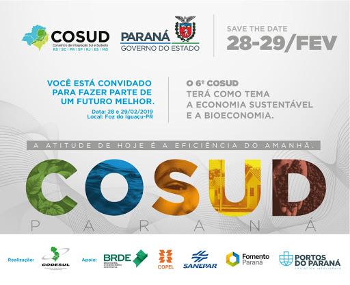 Consórcio de Integração Sul e Sudeste (Cosud)aborda temas relacionados à sustentabilidade e economia criativa.