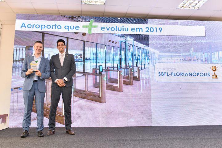 Aeroporto Internacional de Florianópolis ganha Prêmio Aeroportos + Brasil, do Ministério da Infraestrutura
