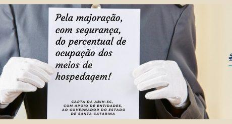 Carta da ABIH-SC com o Apoio de Entidades ao Governo do Estado de Santa Catarina