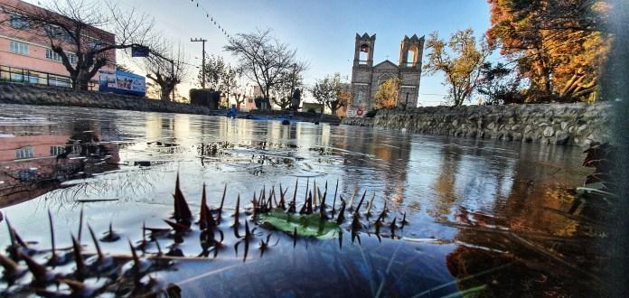 Frio congelante de seis graus negativos marca amanhecer na Serra Catarinense